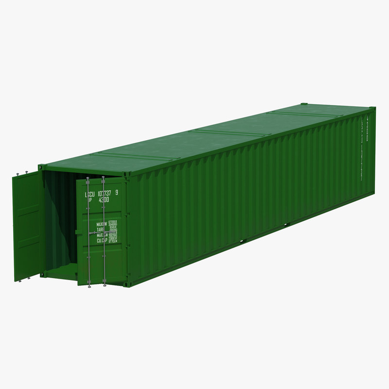 48 ft shipping iso container 3d 3ds for 30 foot shipping container