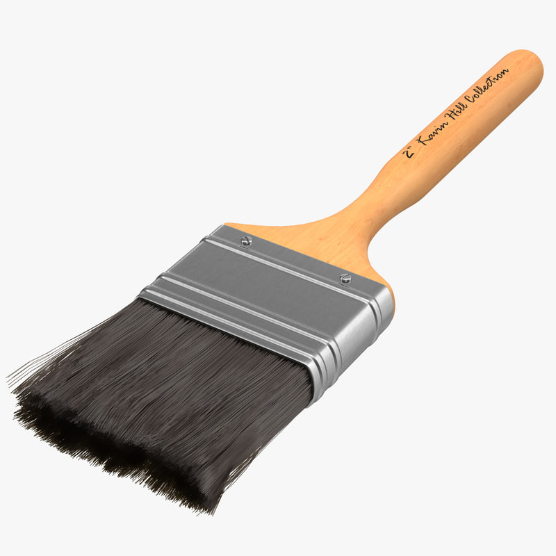 Paint Brush with Fur 3d model 00.jpg