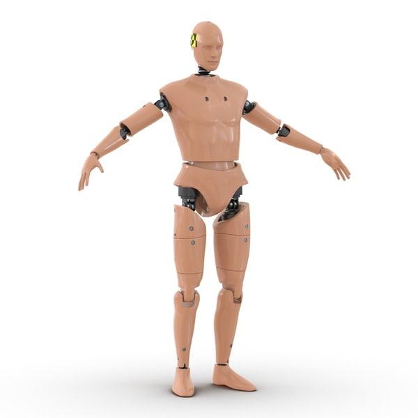 Male Crash Test Dummy 3D Models