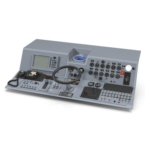 Military Boat Control Panel 2 3D Models