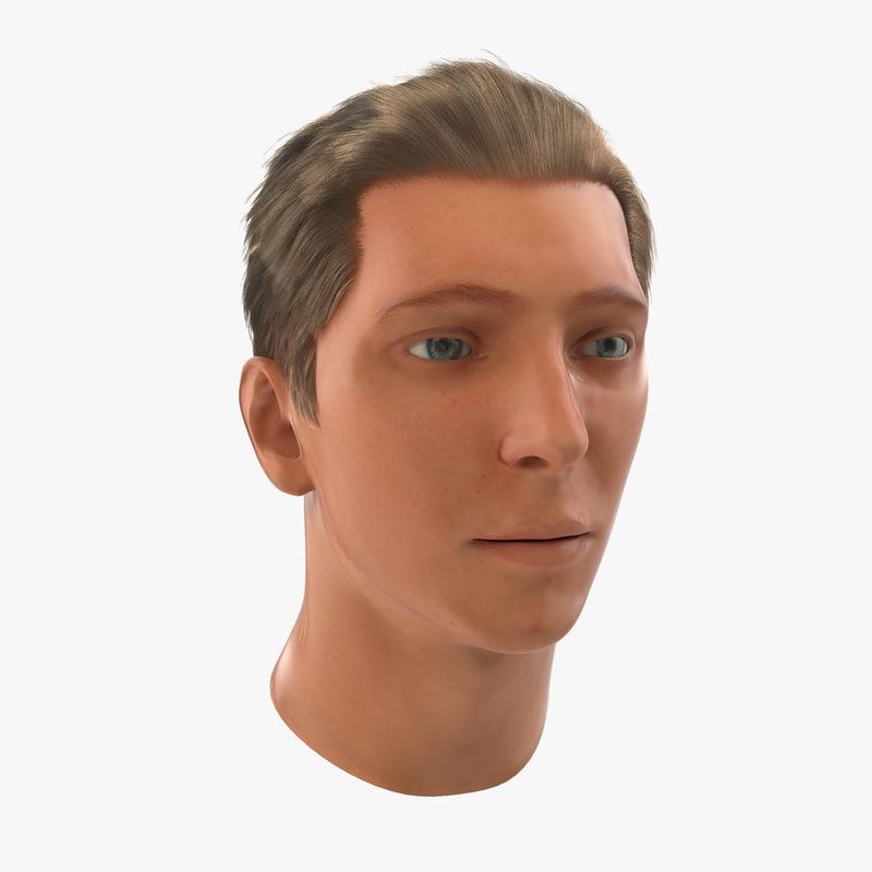 Male Head Rigged 3d model 00.jpg