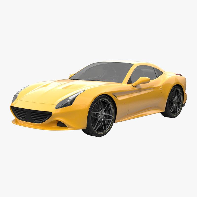 Generic Sport Car Simple Interior 3d model 00.jpg