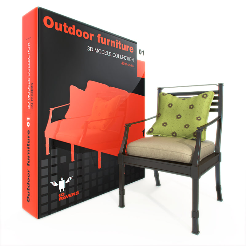 Furniture outdoor 3d max for Outdoor furniture 3d max