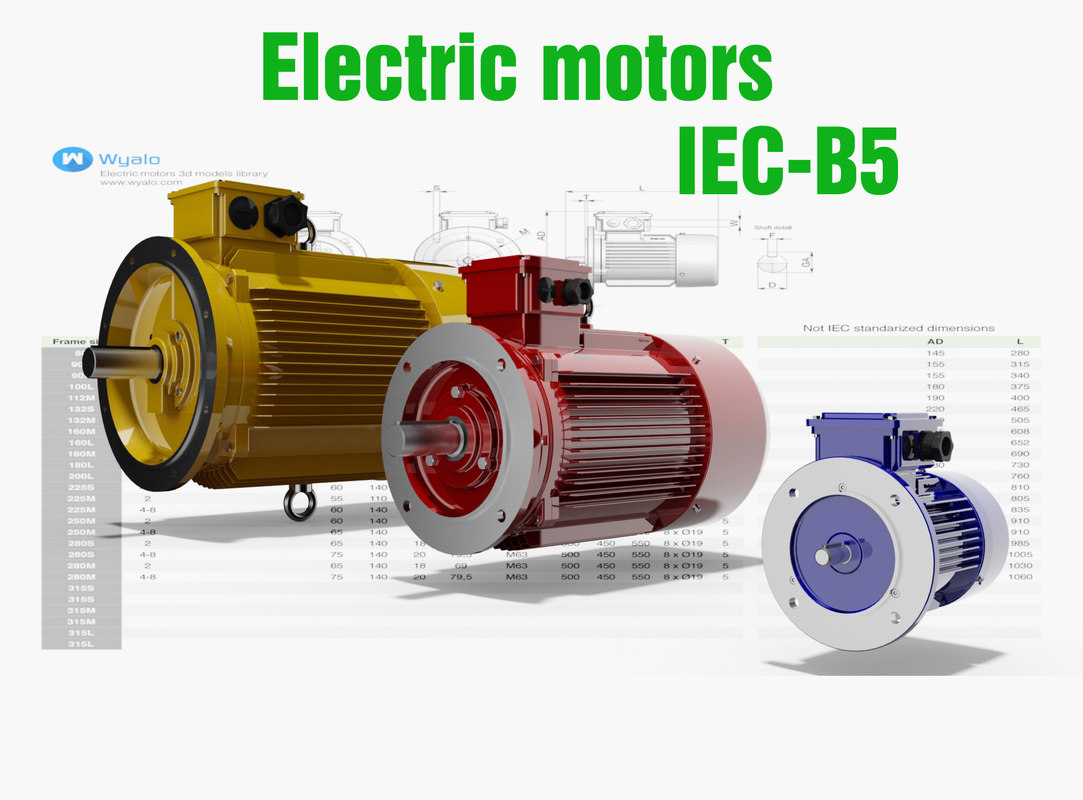 Iec Motors Cad 21 3d Model