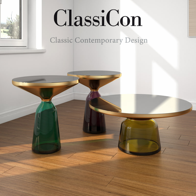 coffee table bell classicon 3d max. Black Bedroom Furniture Sets. Home Design Ideas