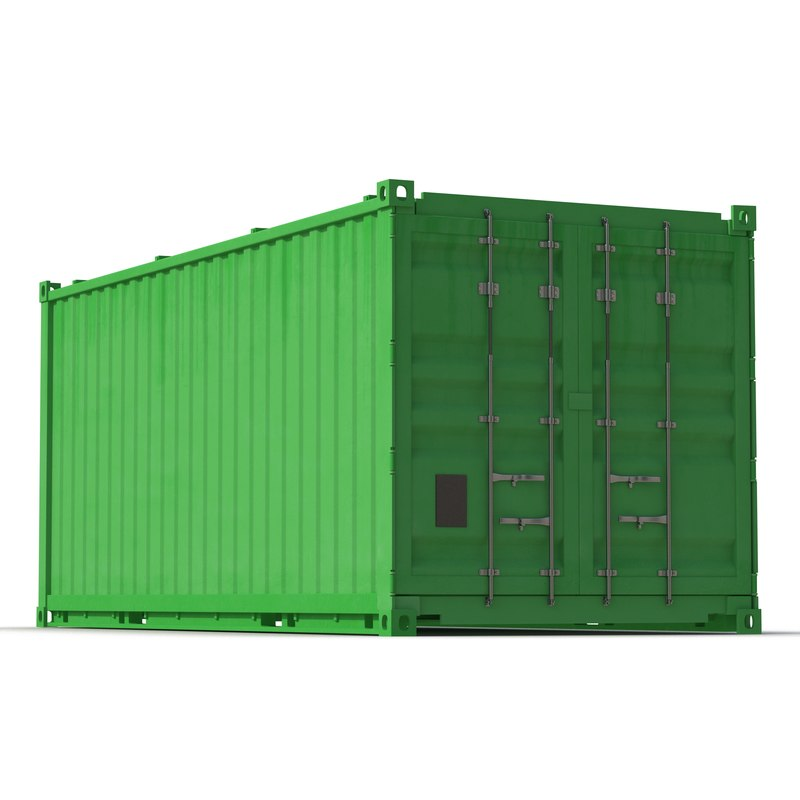 Collapsible ISO Container Green 3d model 01.jpg