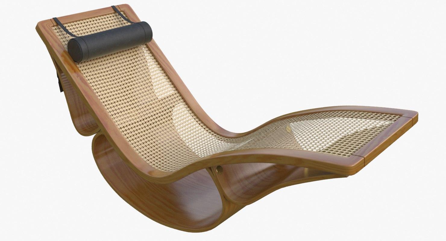 3d rio chaise longue teak for Chaise quadriceps