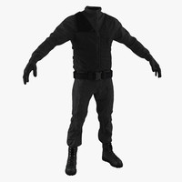 police uniform 3D models