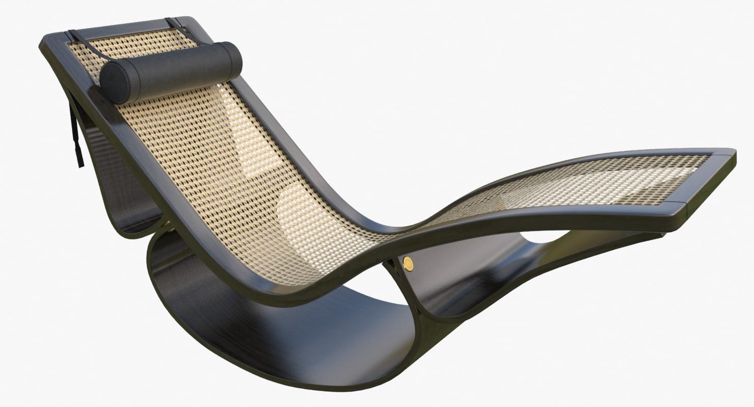 Rio chaise longue black max for Chaise quadriceps