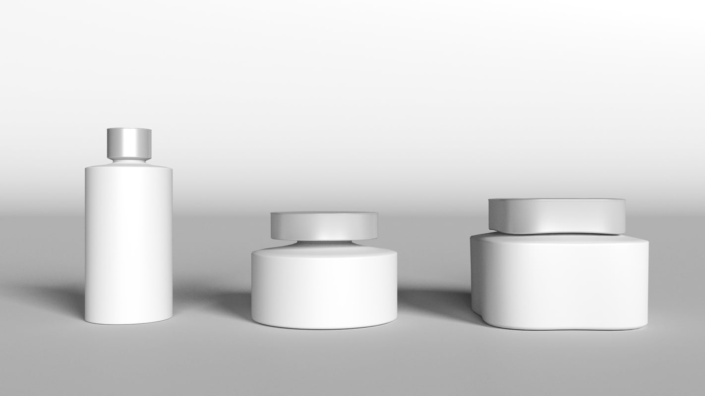 3d bathroom container set model for Bathroom containers