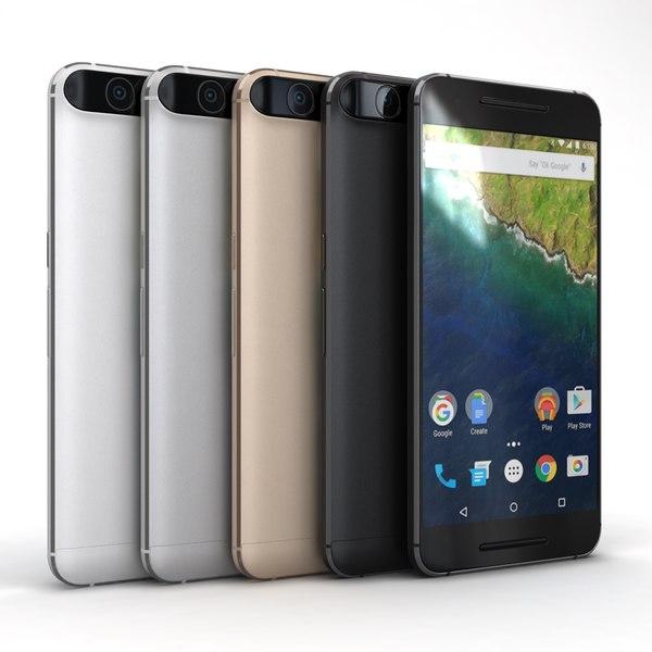 Huawei Nexus 6P All Color 3D Models