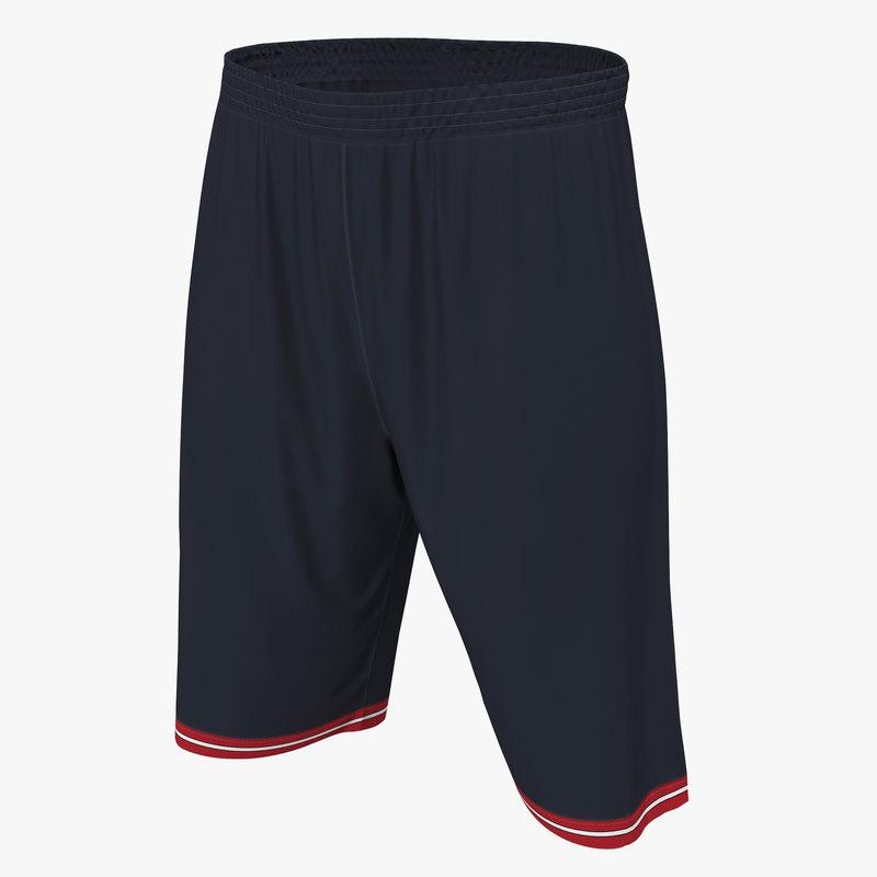 Basketball Shorts Black 3d model 00.jpg