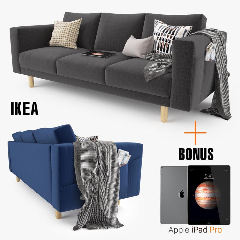 ikea morsborg sofa seat 3d model. Black Bedroom Furniture Sets. Home Design Ideas