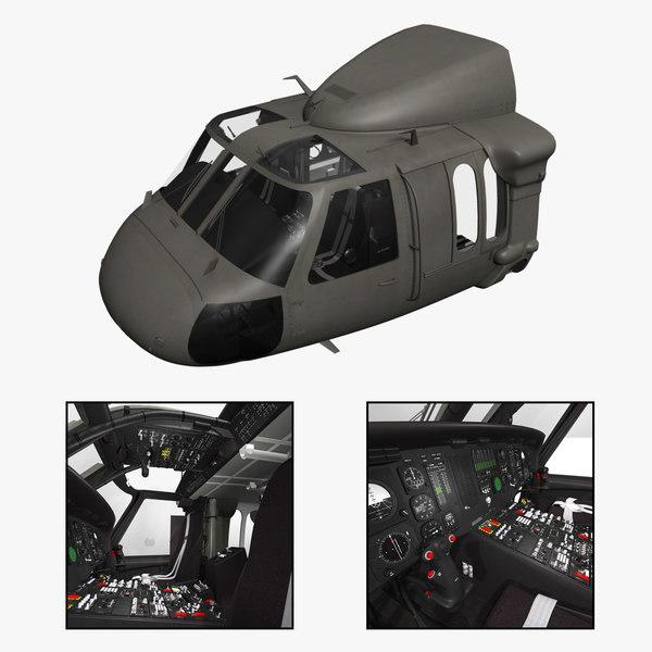 UH-60L Blackhawk Cockpit Texture Maps