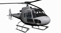 civilian utility helicopter 3D models