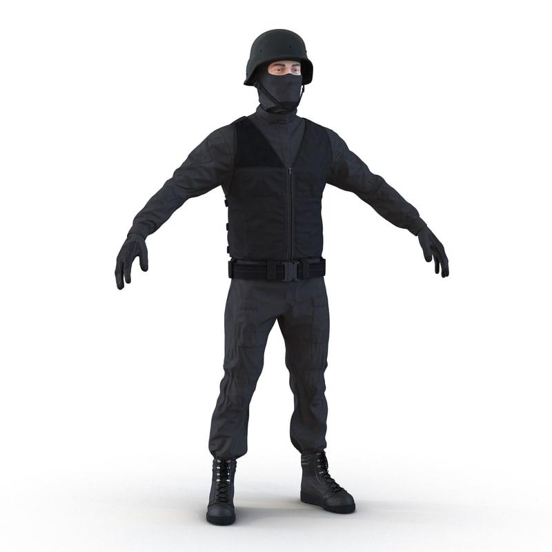 SWAT Man Mediterranean 3ds model 01.jpg