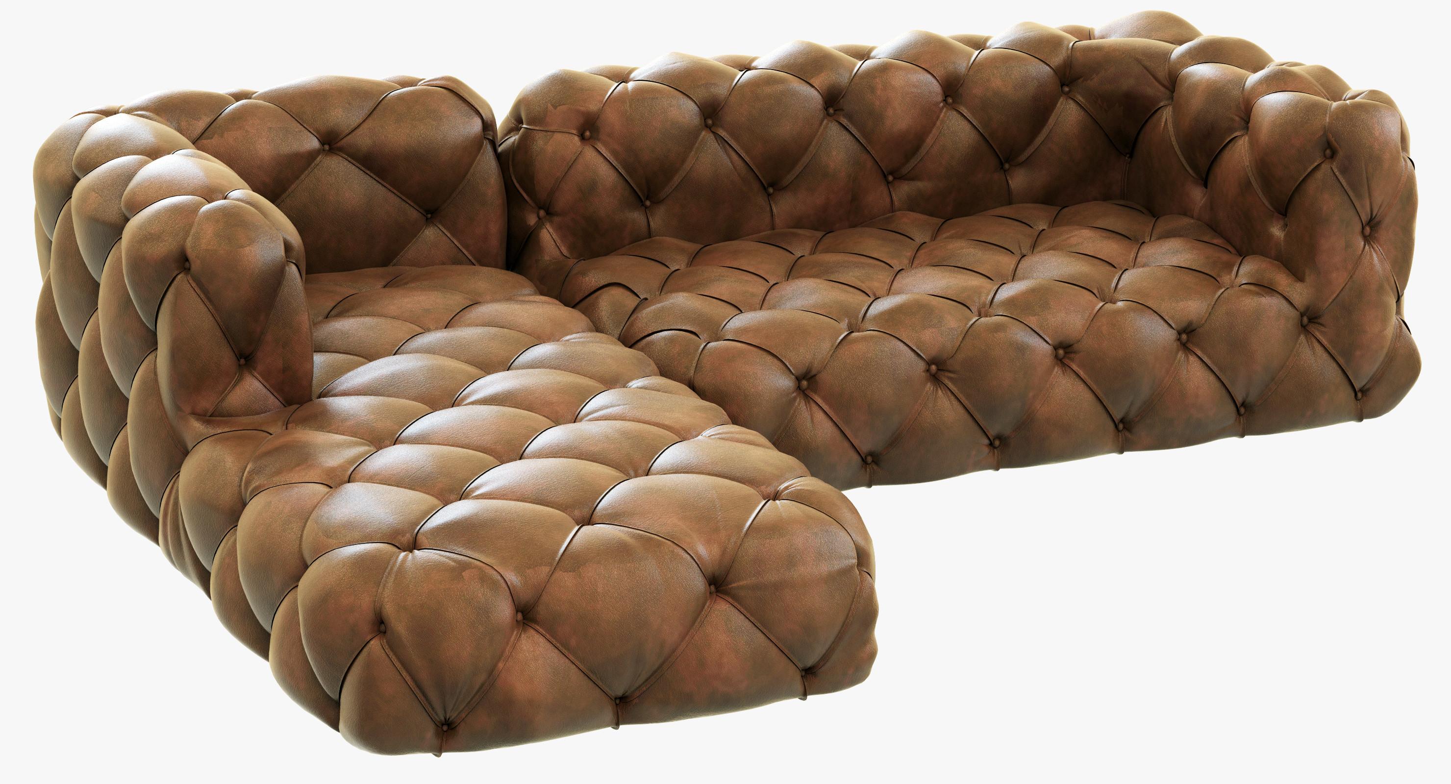3ds max restoration hardware soho tufted for Restoration hardware tufted sectional sofa
