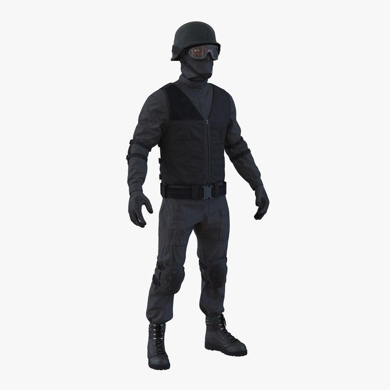 3d model of SWAT Man Afro American Rigged 00.jpg