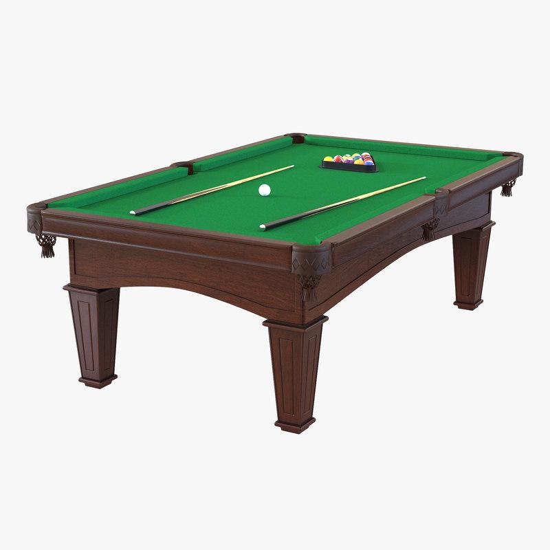 3d model billiard table 2 for Table 3d model