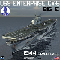 USS Enterprise 3D models