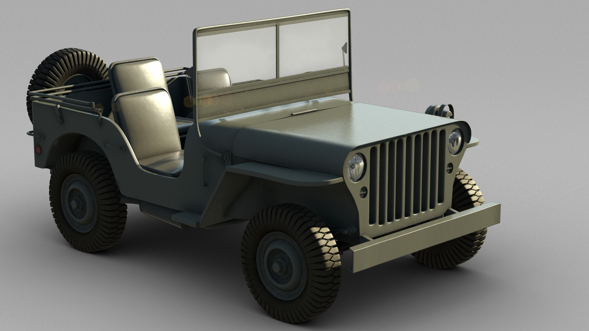 3d willys army jeep model. Black Bedroom Furniture Sets. Home Design Ideas