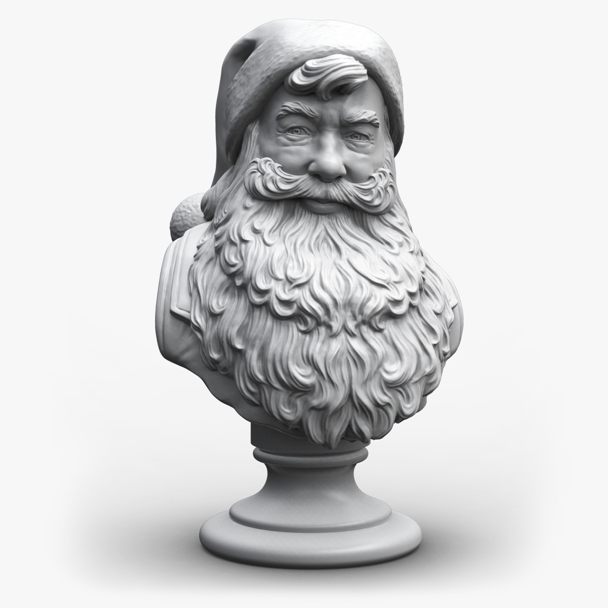 Santa claus bust sculpture max