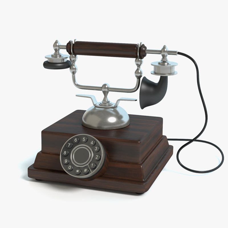Old Fashioned Wooden Phone