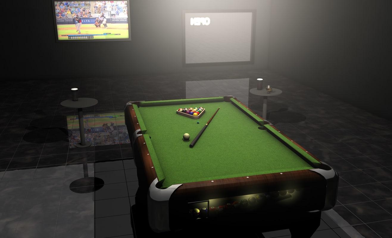 searched 3d models for 3d pool balls billiard ball set sketchup