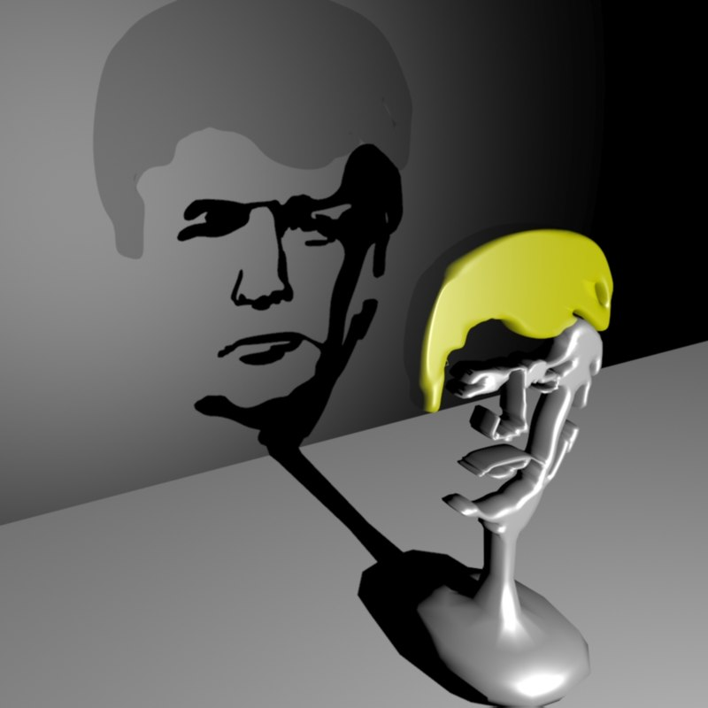 Donald trump trophy 3d model for Donald model