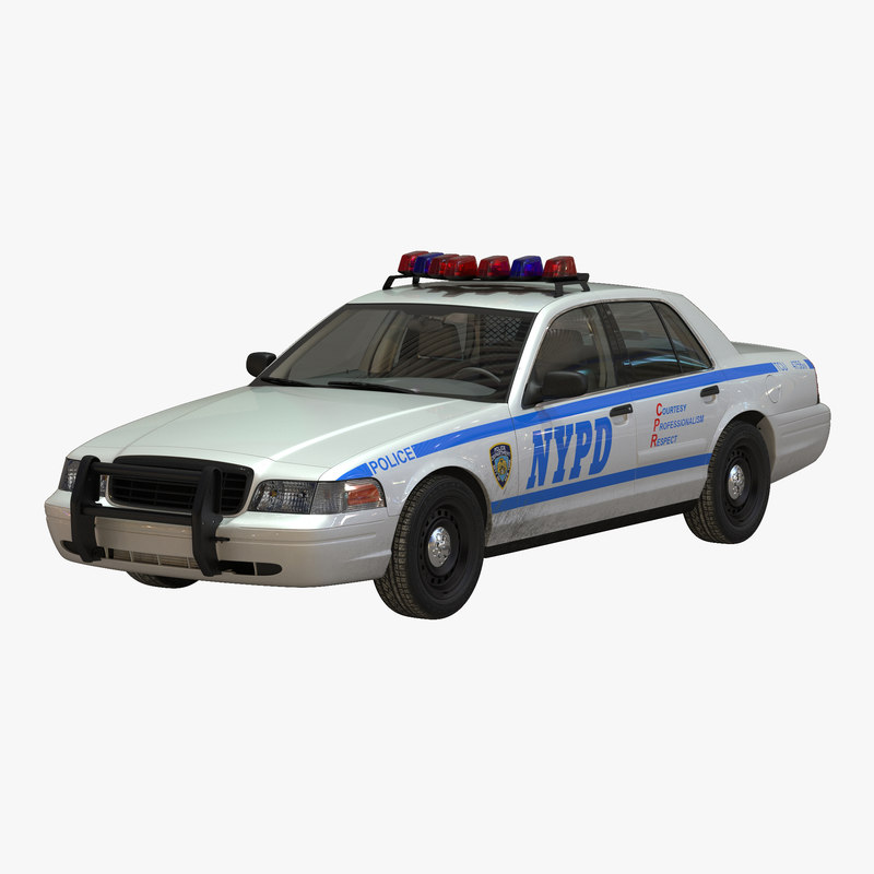 generic police car nypd simple interior 3d model. Black Bedroom Furniture Sets. Home Design Ideas