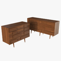 Four Drawer Dresser 3D models