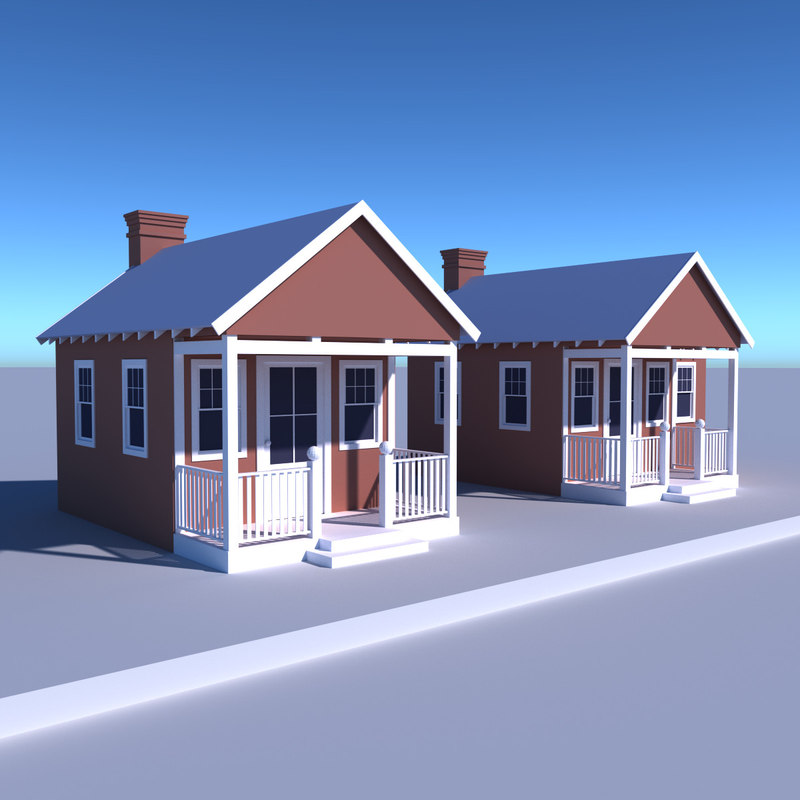 3d simple house model for Simple home model