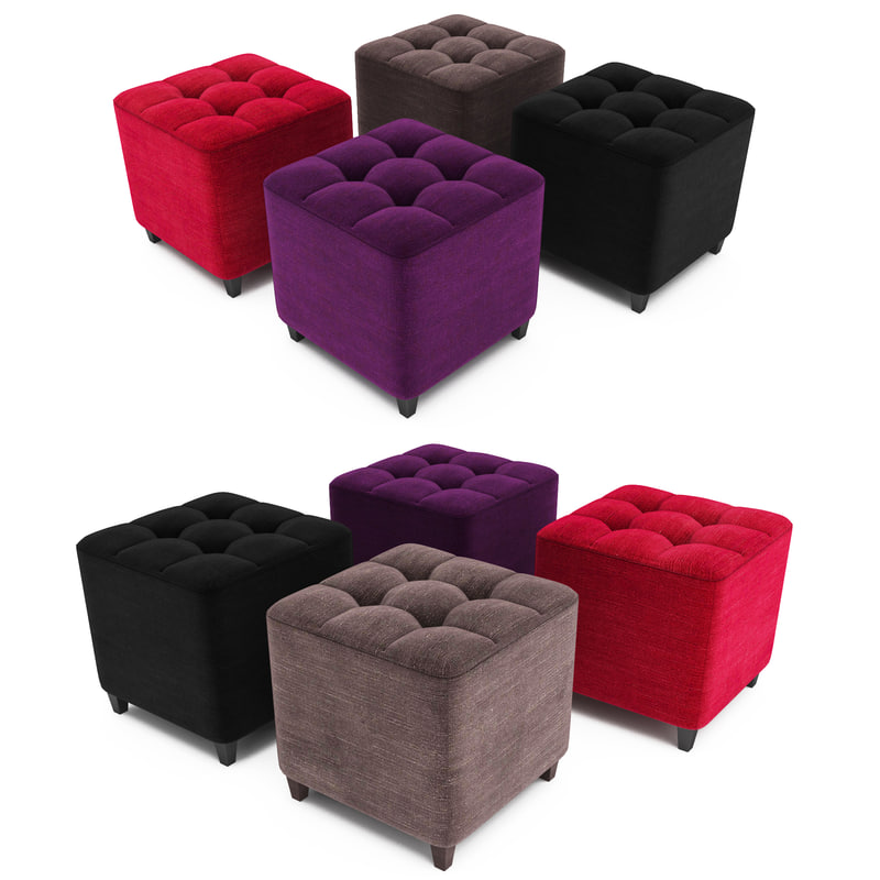 3ds max pouf capitonne. Black Bedroom Furniture Sets. Home Design Ideas