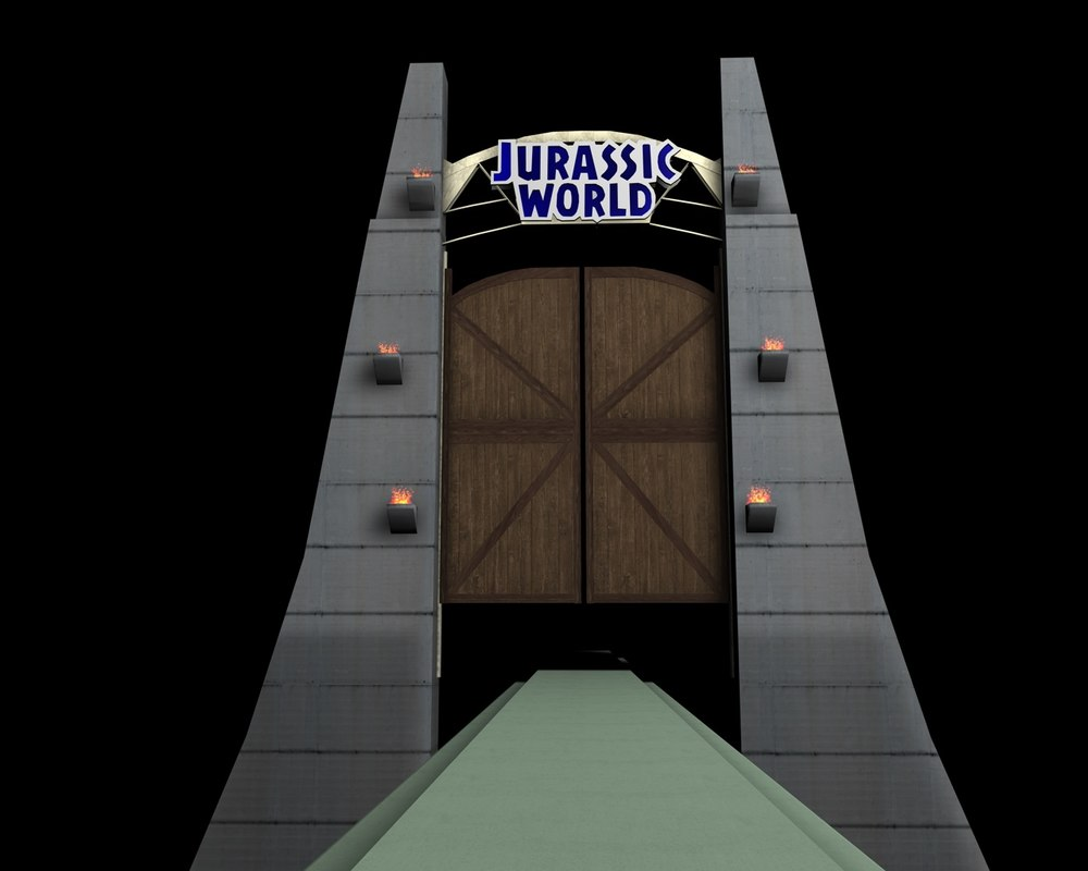Jurassic world 3d 3ds for Puerta jurassic world