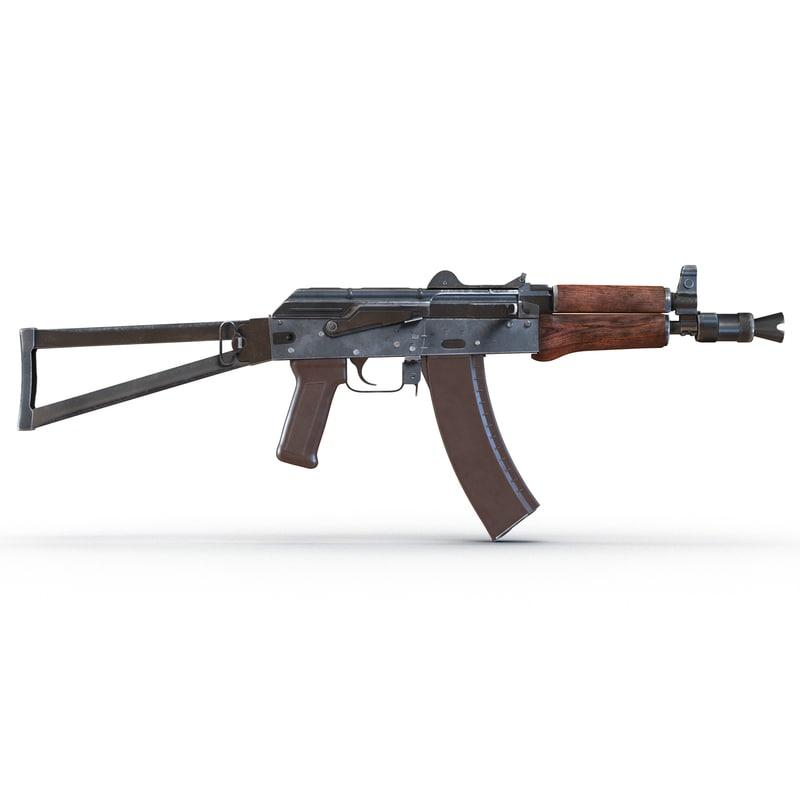 Assault Rifle AKS 74U 3d model 01.jpg