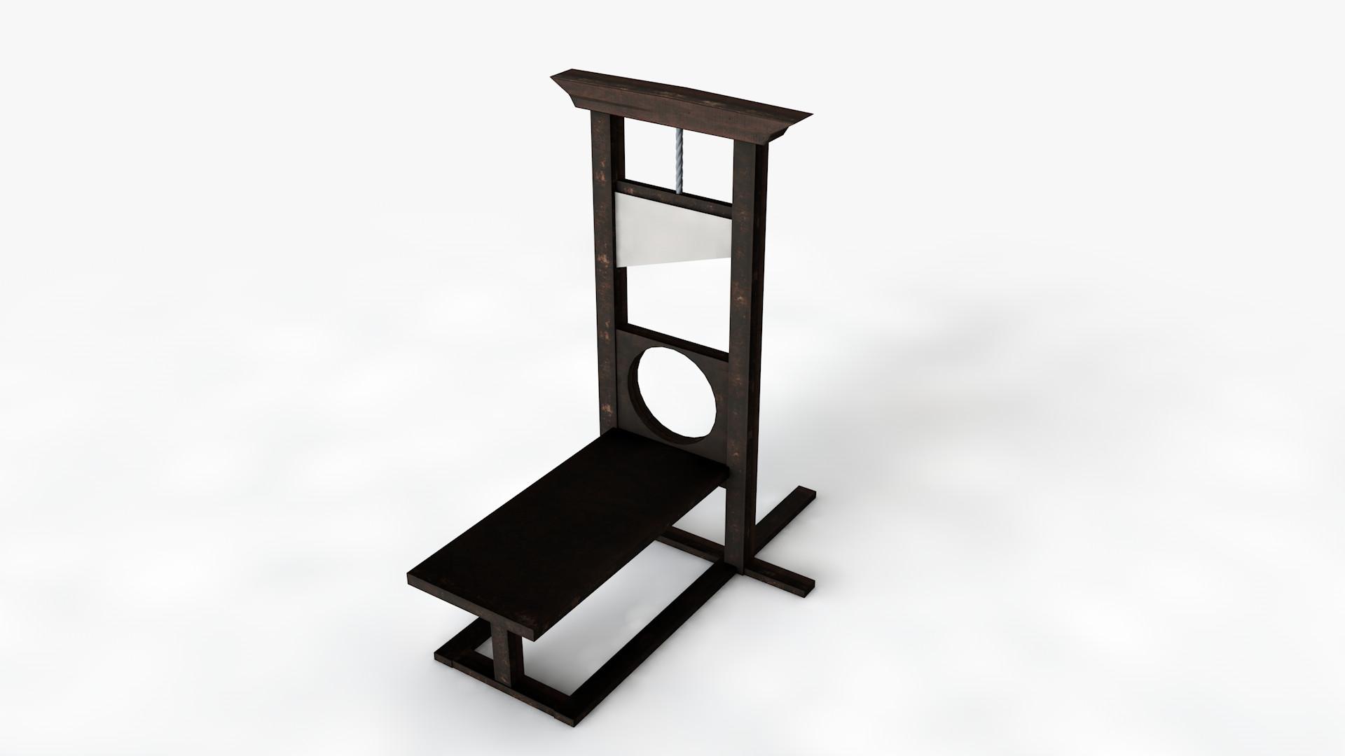 free guillotine 3d model. Black Bedroom Furniture Sets. Home Design Ideas