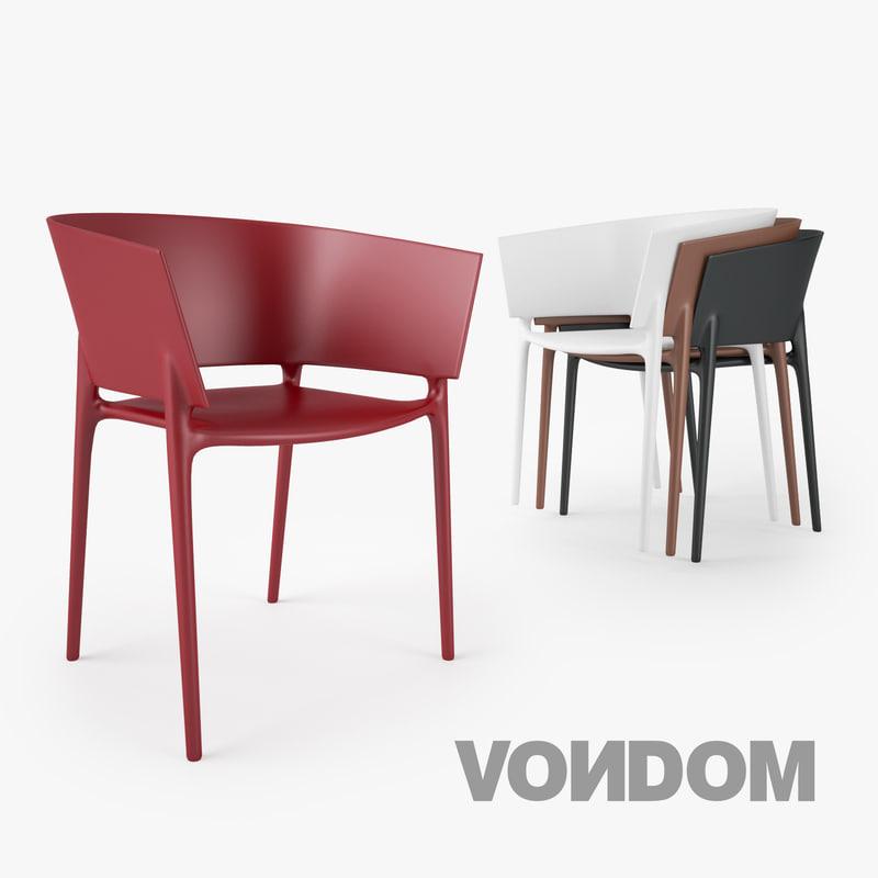 vondom africa silla chair seat 3d x. Black Bedroom Furniture Sets. Home Design Ideas