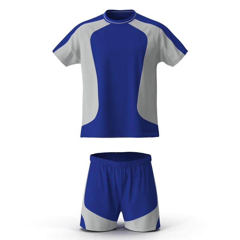 3ds model of Soccer Uniform Blue 01.jpg
