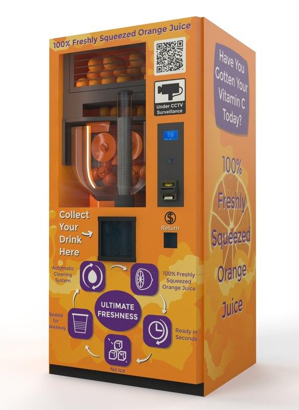max fresh orange juice vending machine. Black Bedroom Furniture Sets. Home Design Ideas