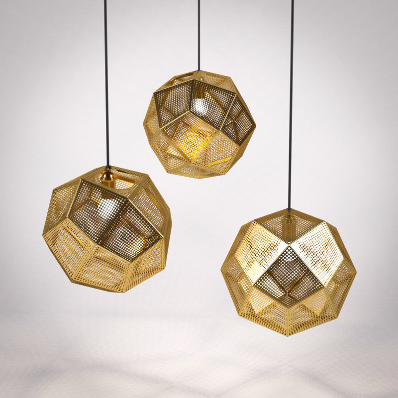 Etched Metal Lamp Shade: 3d Tom Dixon Etch Shade