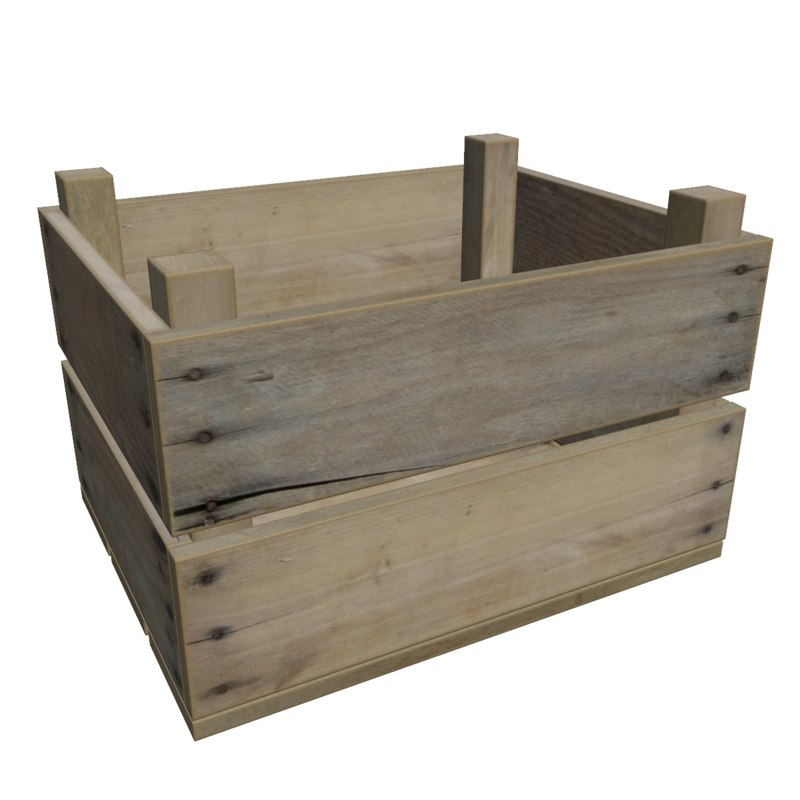 Ready wooden fruit crate 3d model for Wooden fruit crates
