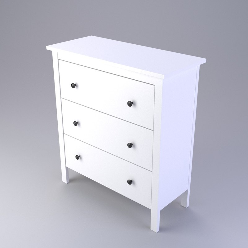 . Searched 3d models for IKEA Mandal Chest of 6 drawers