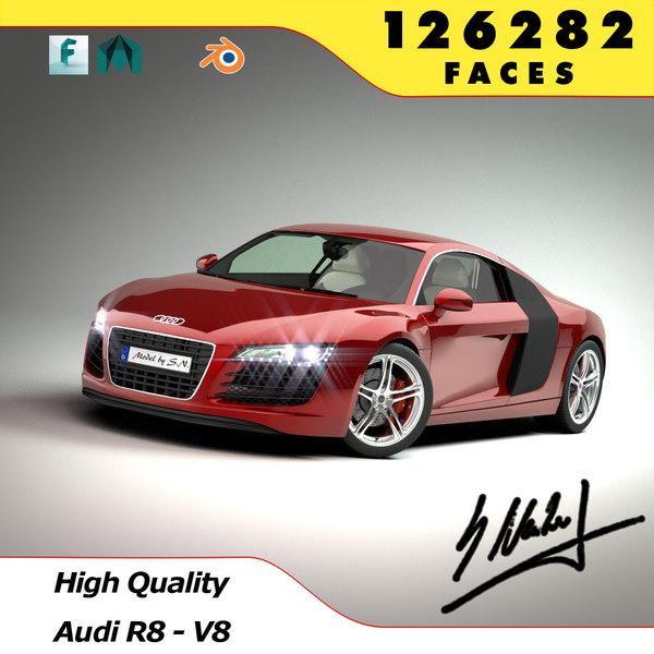Audi R8 V8 - High Quality 3D Models