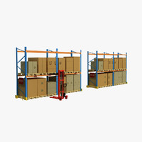 warehouse material 3D models