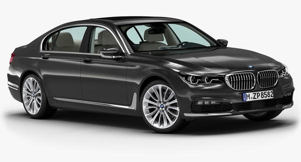 2016 BMW 7 Series 3D Models