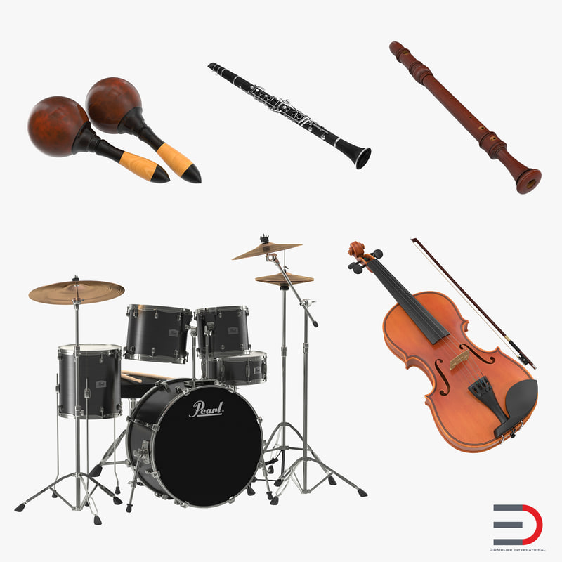 Musical Instruments Collection 3d models 01.jpg