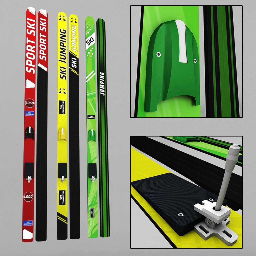 Ski jumping skis low poly 01.jpg