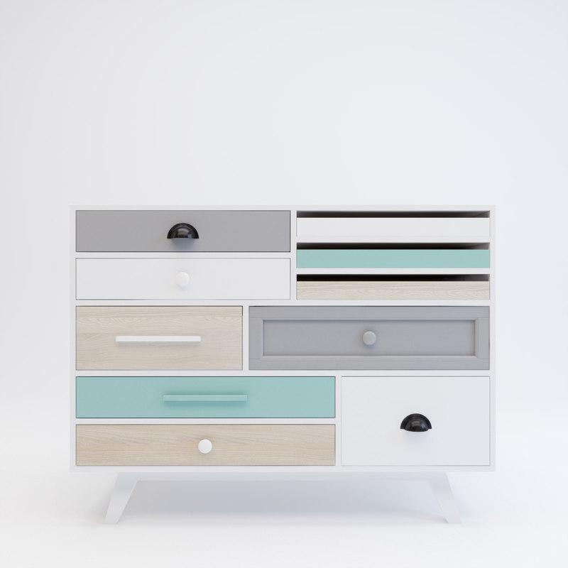 bureau 3d model. Black Bedroom Furniture Sets. Home Design Ideas