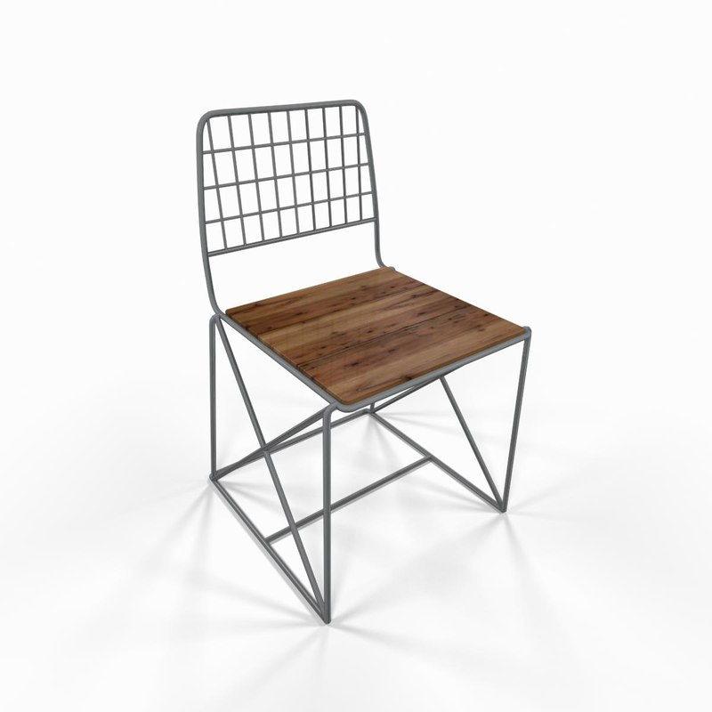 metal kitchen chair fbx