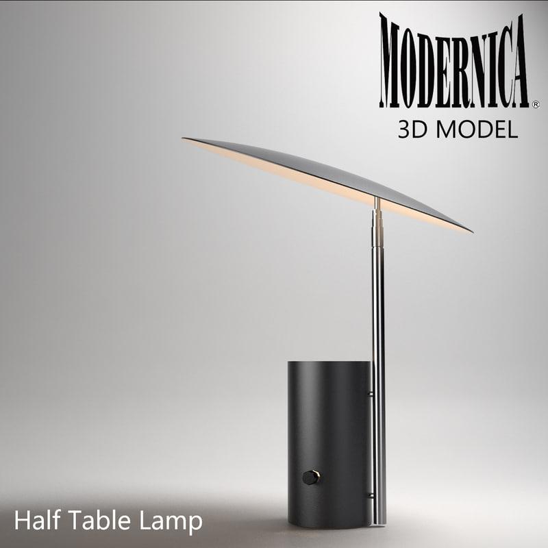 3d modernica half lamp light model for Half nelson table lamp